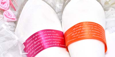 Serviette menu 40mm